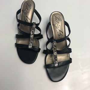 Brighton TESORO Sandal Heels with Silver Accent